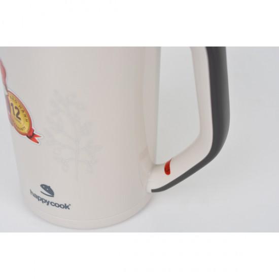 Ấm đun siêu tốc inox 304 dày 2 lớp 1.7 lít Happy Cook HEK-17WF