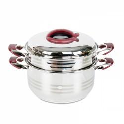 Bộ Xửng Hấp Inox 304 Cao Cấp 3 Đáy 2 Tầng 32cm Happy Cook ST32-2