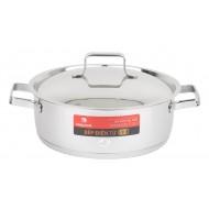Nồi Inox 3 Đáy Bếp Từ 16cm Happy Cook Milan Plus N16-MLP