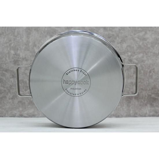 Bộ Nồi Quánh Inox 3 Đáy Bếp Từ Happy Cook Milan X HC-06MLGX