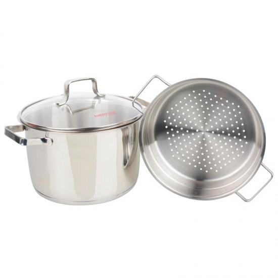Bộ Xửng Hấp Inox Bếp Từ 24cm Happy Cook Milan ST24-MLGP